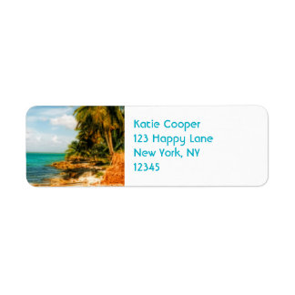 Dreamy Tropical Beach Return Address Label