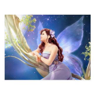 Dreamy Violet Fairy Postcard