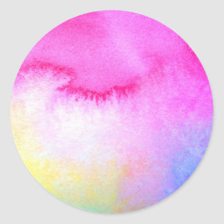 Dreamy Watercolor Classic Round Sticker