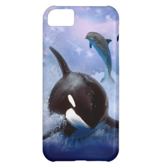 Dreamy Whale and dolphins play iPhone 5C Case