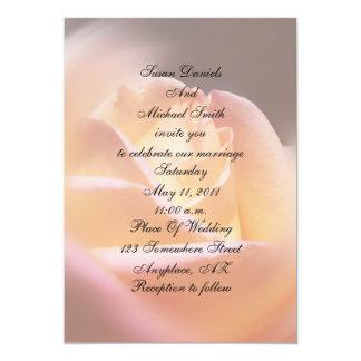 "Dreamy Yellow Rose Floral Wedding Invite 5"" X 7"" Invitation Card"