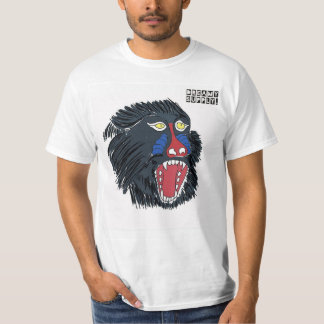 DreamySupply Angry Monkey White T-Shirt