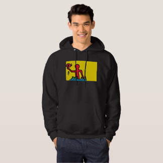 DreamySupply Go DJ Pop Art Black Hoodie