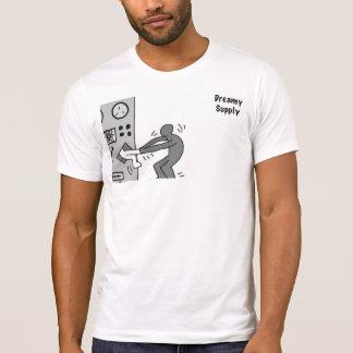 DreamySupply Man Vs Machine Black&White Crew Neck T-Shirt