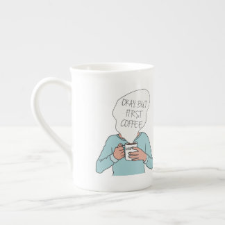 DreamySupply Okay But First Coffee Bone China Mug