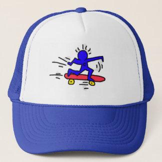 DreamySupply Pop Art SkateBoard Man Royal Blue Cap