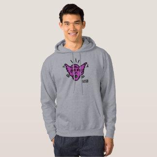 DreamySupply Purple Demon Pop Art Grey Hoodie