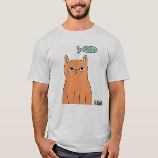 DreamySupply Something's Fishy Men's Grey T-Shirt