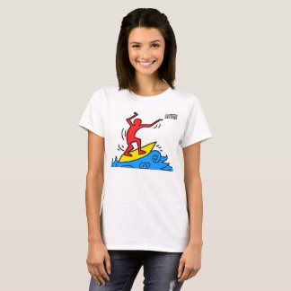 DreamySupply Surfing Man Womens Basic T-Shirt