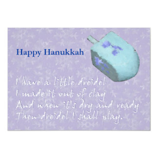 Dreidel Chanukah (Hanukkah) Song Card
