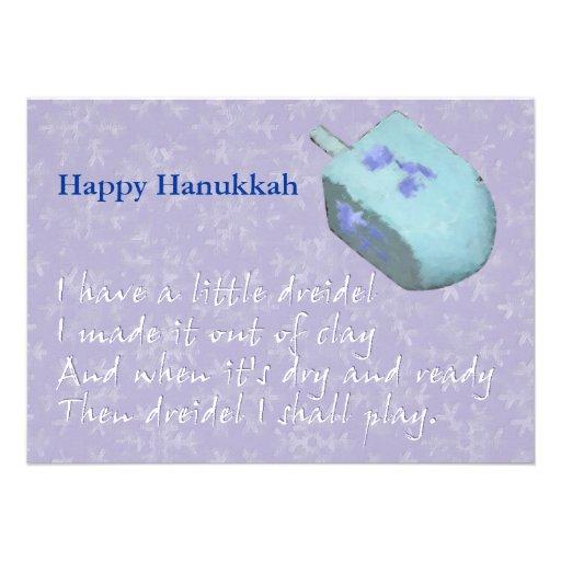 Dreidel Chanukah (Hanukkah) Song Custom Invites