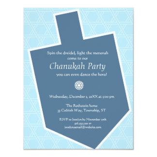 Dreidel Chanukah Party Invitation