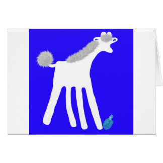 Dreidel Hanukkah card with cute giraffe