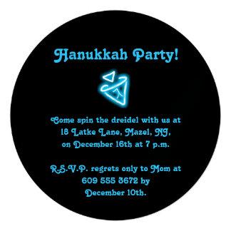 Dreidel Hanukkah Party invitation