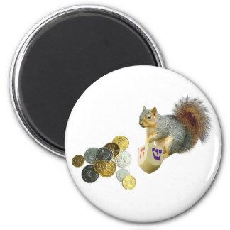 Dreidel Squirrel Magnet