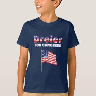 Dreier for Congress Patriotic American Flag Design T-Shirt