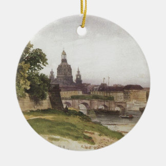 Dresden. Bridge of August by Ivan Shishkin Ceramic Ornament