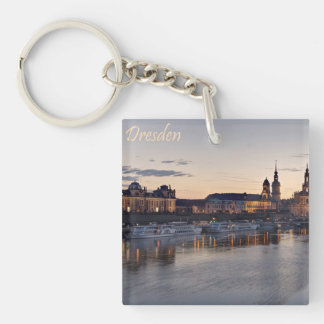 Dresden Elbe view Key Ring