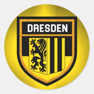 Dresden Flag Classic Round Sticker
