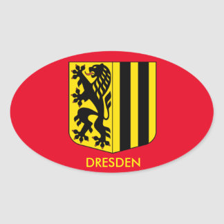 Dresden, Germany Oval Sticker