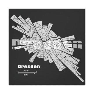 Dresden Map Canvas Canvas Prints