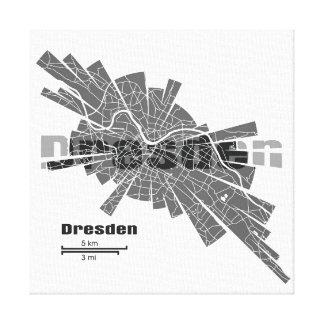 Dresden Map Canvas Gallery Wrap Canvas