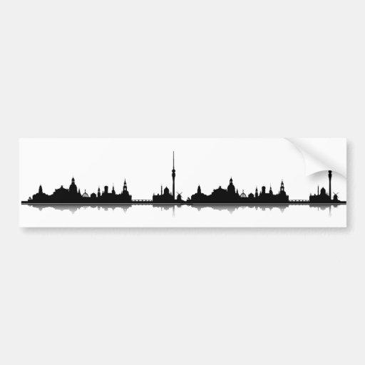 Dresden skyline stickers bumper stickers