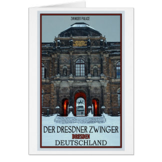 Dresden - Zwinger Palace Winter P Card
