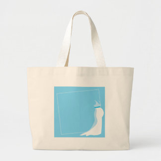 Dress: Bonny pregnant lady marriage in blue Tote Bags