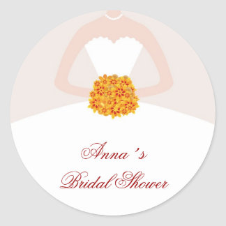 Dress Bridal Shower Favor Labels Fall