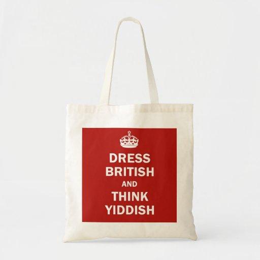 Dress British  and  Think Yiddish Tote Bag