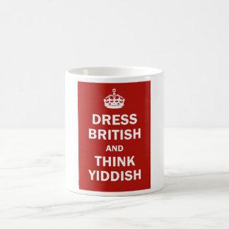 Dress British  and  Think Yiddish Basic White Mug