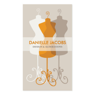 Dress Form Fashion Design Pack Of Standard Business Cards