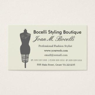 Dress Form Fashion Vintage Victorian Mannequin Business Card