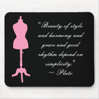 Dress Form Silhouette II - Pink Mouse Pad