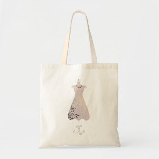 Dress Form Tote Budget Tote Bag