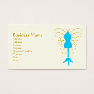 Dress Form with Swirls - Design Goddess Business Card