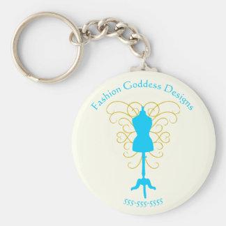 Dress Form with Swirls - Design Goddess Keychain