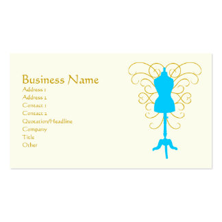 Dress Form with Swirls - Design Goddess Pack Of Standard Business Cards