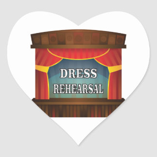 dress rehearsal heart sticker