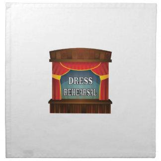 dress rehearsal napkin