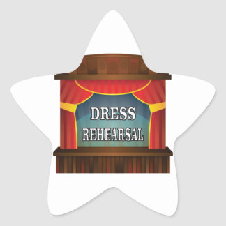 dress rehearsal star sticker
