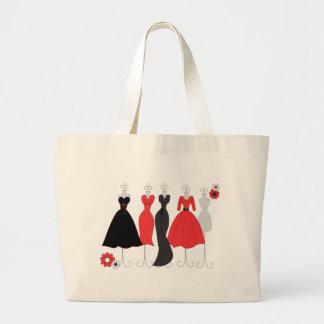 Dress Shop-Daisy Theme Large Tote Bag