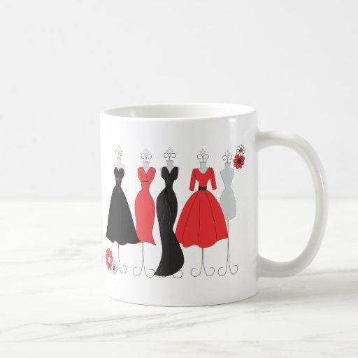 Dress Shop-Daisy Theme Coffee Mugs