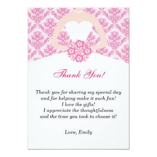 Dress Thank You Card Pink Polka Dots 13 Cm X 18 Cm Invitation Card