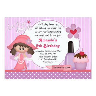 Dress Up Birthday Party Card