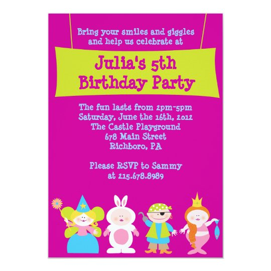 Dress Up Costume Party Birthday Invitation