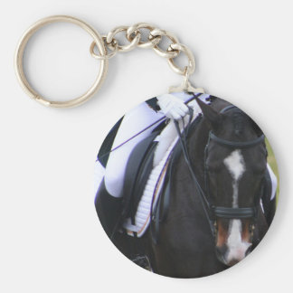 Dressage Basic Round Button Key Ring