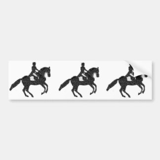 Dressage Bumpersticker- Mosaic Horse and Rider Bumper Sticker