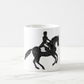 Dressage Coffee Mug- Mosaic Horse and Rider Design Coffee Mug